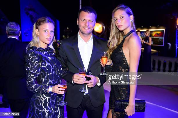 Bar Zomer Shai Avital and Nicol Mosli attend the cocktail for the inaugural 'MonteCarlo Gala for the Global Ocean' honoring Leonardo DiCaprio at the...