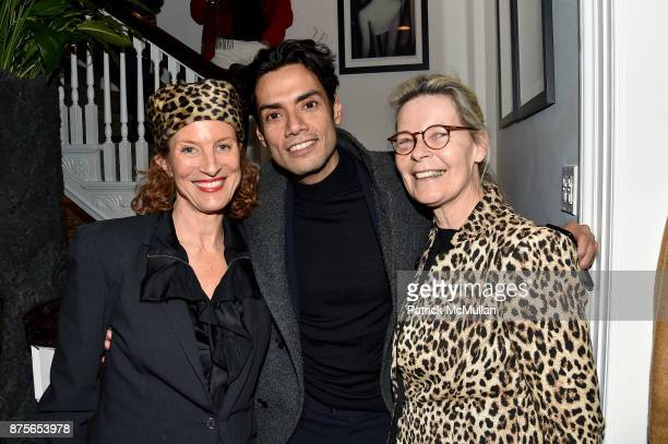 Bara de Cabrol Omar Hernandez and Mona Arnold attend Edelman Arts The Infamous Rose Hartman at Edelman Arts on November 17 2017 in New York City
