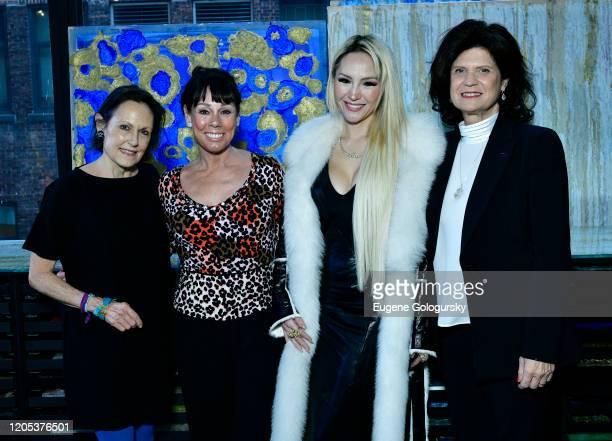 Barabara Dixon Mary Ann Portell Lillian Gorbachincky and Elena Brunelli attend the Andrea Bocelli Foundation Lillian Gorbachincky Present First...
