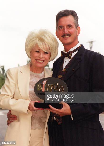 Barabara Windsor star of TV's EastEnders presents Steve Linder with the Bingo Caller of the Year 1999 award at a ceremony in London Steve aged 43...