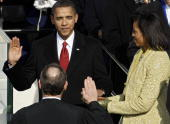 Barack h obama is sworn in by chief justice john roberts as the 44th picture id84372145?s=170x170