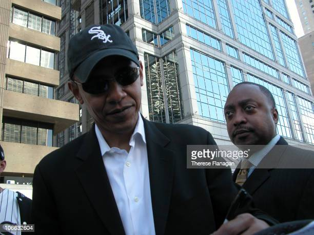 Barack Obama at the White Sox World Series Ticker Tape Parade in Chicago IL October 28 2005