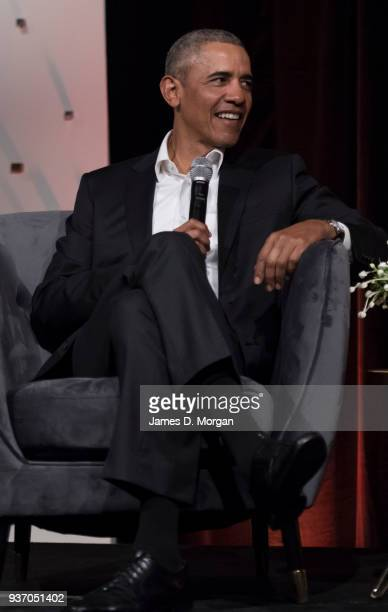 Barack Obama attends a talk at the Art Gallery Of NSW on March 23 2018 in Sydney Australia The former US president is on a private speaking tour of...