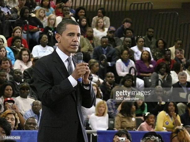 NBC NEWS Barack Obama Campaign Pictured Senator Barack Obama during his campaign for the Democratic Presidential nomination at Mississippi University...
