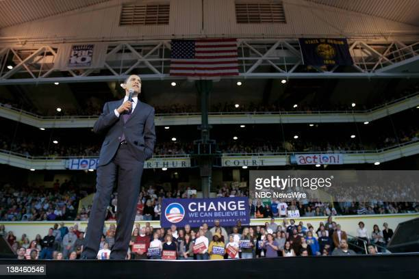 Barack Obama Campaign -- Pictured: Senator Barack Obama during his campaign for the Democratic Presidential nomination in Portland, OR on March 21,...