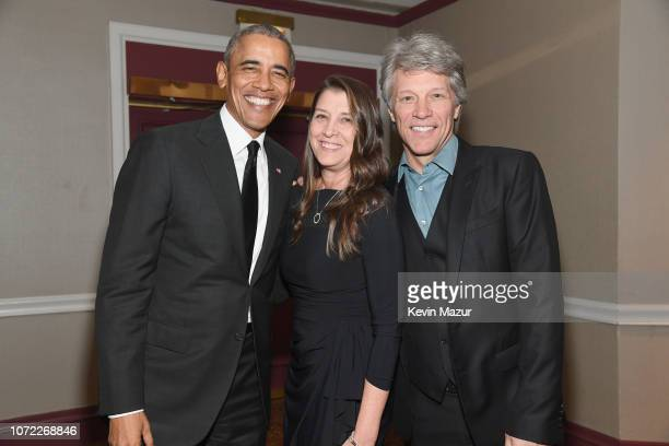 Barack Obama Dorothea Bon Jovi and Jon Bon Jovi attend the 2019 Robert F Kennedy Human Rights Ripple Of Hope Awards on December 12 2018 in New York...