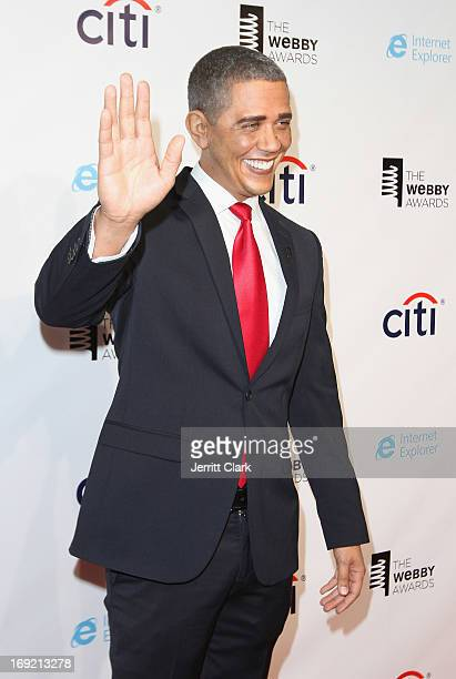 Barack Obama impersonator Reggie Brown attends the 2013 Webby Awards at Cipriani Wall Street on May 21, 2013 in New York City.