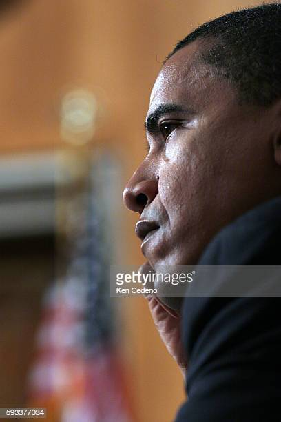 Barack Obama , listens closely as Former House Speaker Newt Gingrich, testifies before the Senate Foreign Relations Committee on Capitol Hill, in...