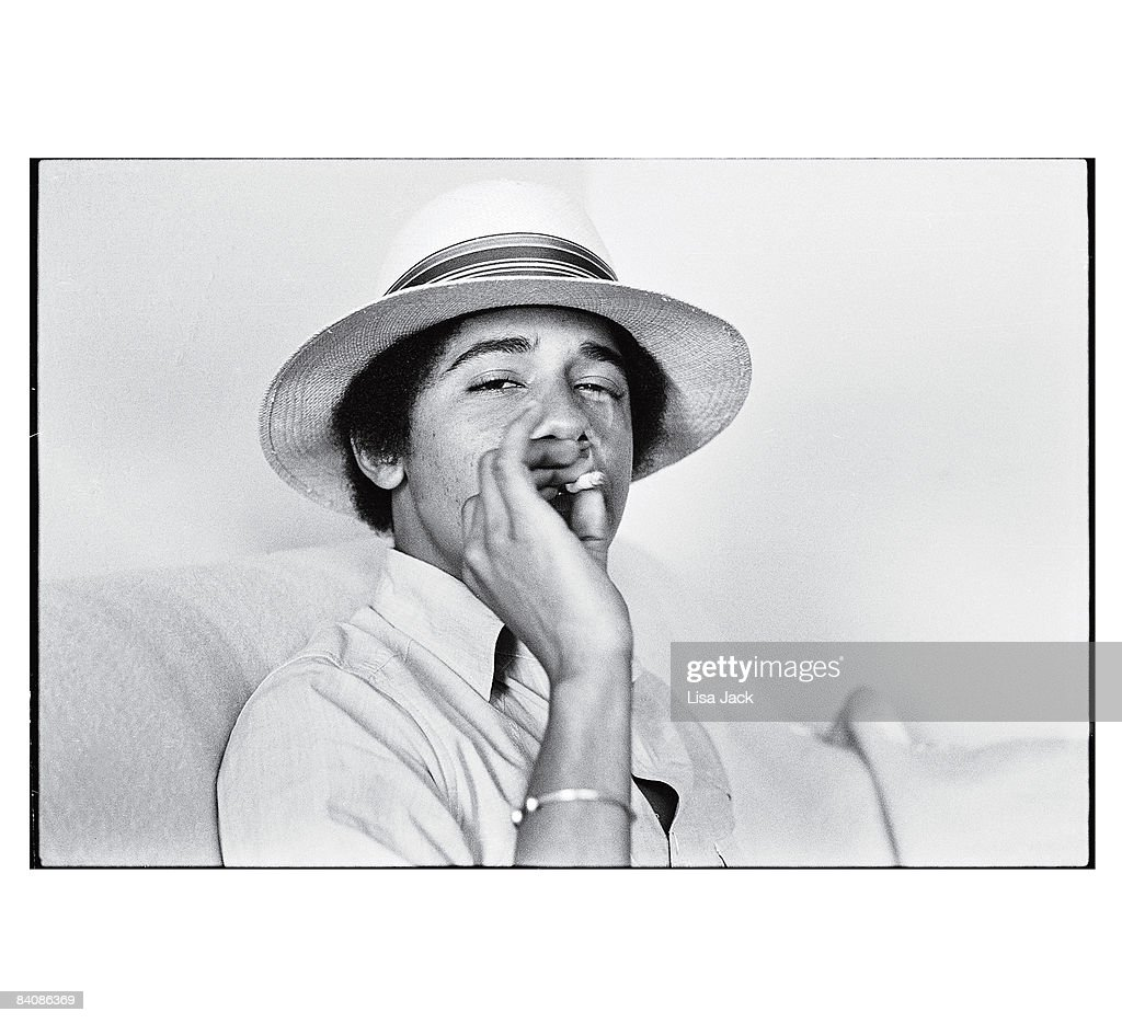 Barack Obama poses for a portrait session taken while he was a student in 1980 at Occidental College in Los Angeles, CA. Published image.