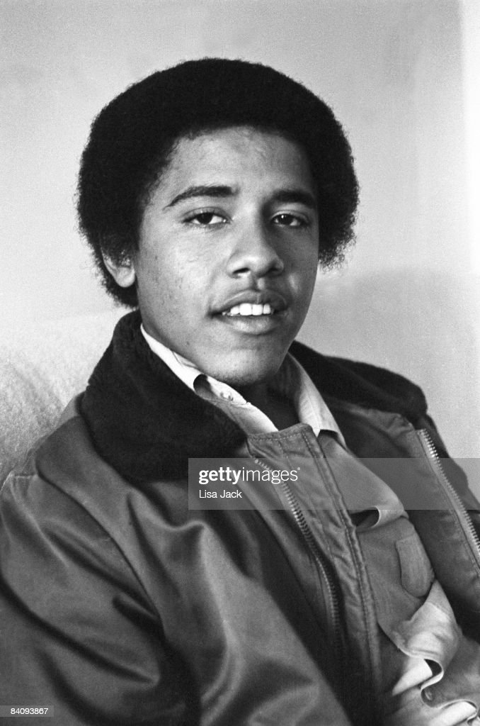 Barack Obama poses for a portrait session taken while he was a student in 1980 at Occidental College in Los Angeles, CA. IMAGE