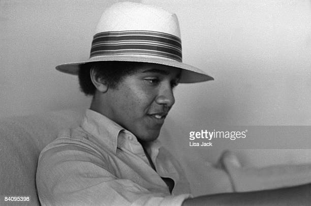 Barack Obama poses for a portrait session taken while he was a student in 1980 at Occidental College in Los Angeles CA IMAGE NOT USED IN TIME