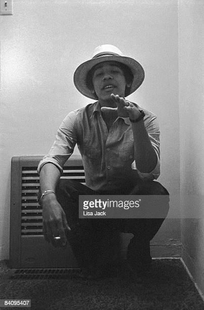 Barack Obama poses for a portrait session taken while he was a student in 1980 at Occidental College in Los Angeles CA Published image