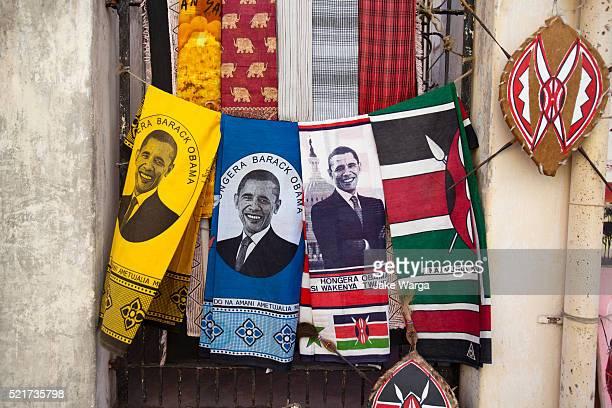 Barack Obama souvenir cloth for sale in Mombasa