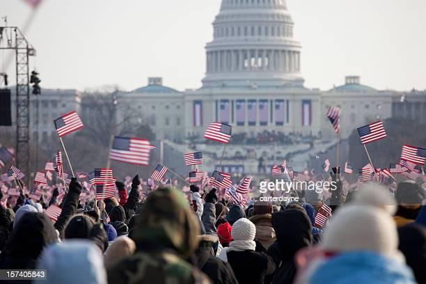 Barack Obama der Präsidenten der Amtseinführung in Washington DC Capitol Gebäude