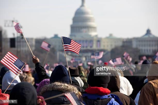 Barack Obama's Presidential Inauguration at Capitol Building, Washington DC