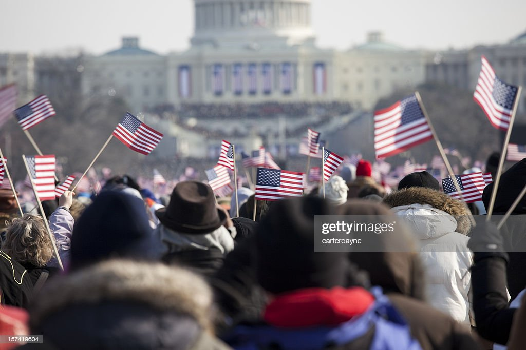 Barack Obama's Presidential Inauguration at Capitol Building, Washington DC : Stock Photo