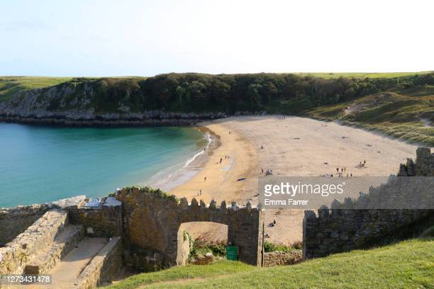 barafundle bay - bay of water stock pictures, royalty-free photos & images