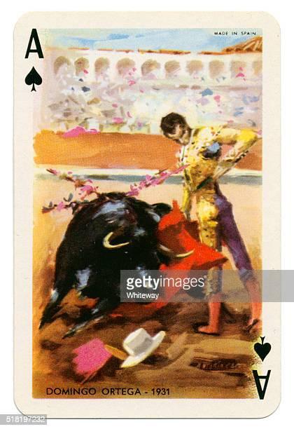 Baraja Taurina bullfighter Ace of Spades 1965