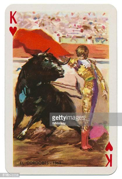 Baraja Taurina bullfighter King of Hearts 1965