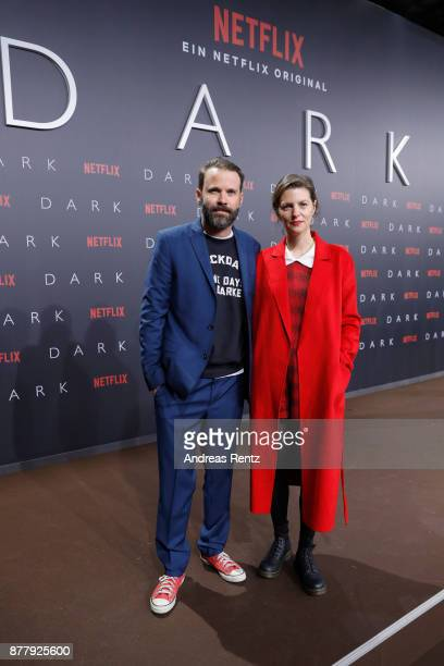 Baran bo Odar and Jantje Friese attend the premiere of the first German Netflix series 'Dark' at Zoo Palast on November 20 2017 in Berlin Germany