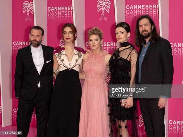Baran Bo Odar Myriam Leone Katheryn Winnick Emma Mackey and Robin Coudert attends the 2nd Canneseries International Series Festival Closing Ceremony...