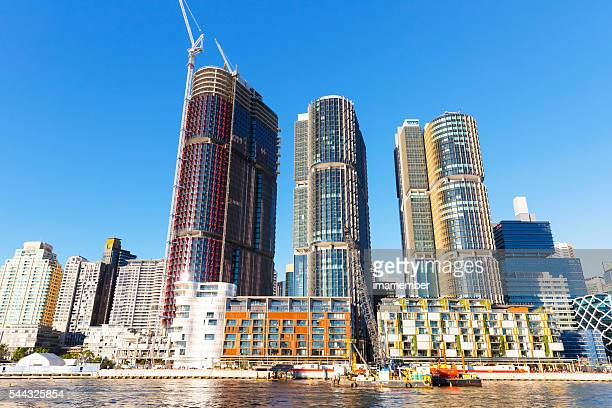 Barangaroo construction site, Sydney Australia, view from water
