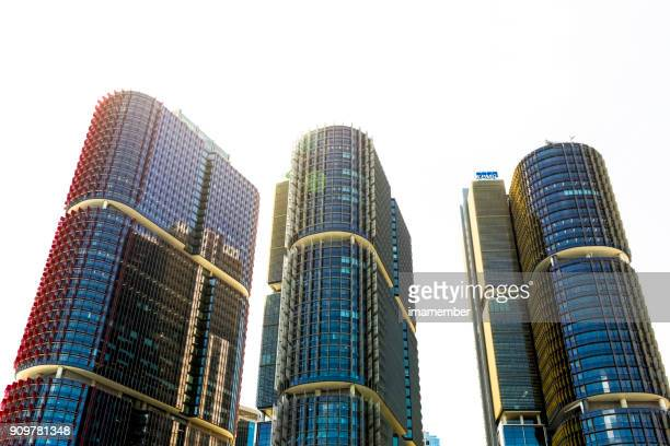 Barangaroo skyscrapers against white background with copy space