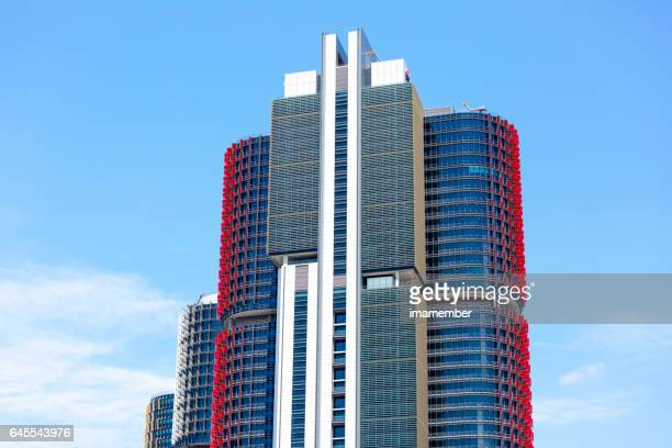 Barangaroo skyscrapers, sky background with copy space