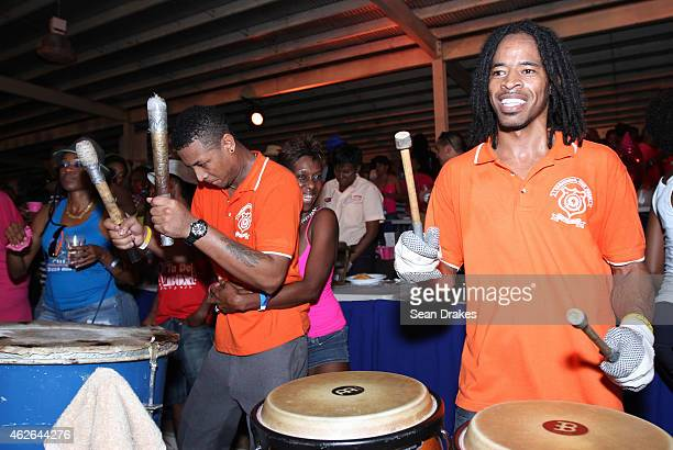 Barataria San Juan Rhythm Band performs in the North Stand during National Panorama SemiFinals in the Queens Park Savannah as part of Trinidad and...