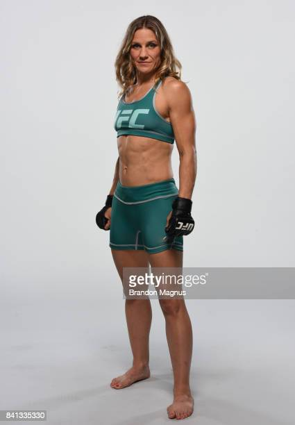 Barb Honchak poses for a portrait during the filming of The Ultimate Fighter at the UFC TUF Gym on July 15 2017 in Las Vegas Nevada
