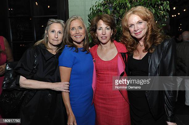 Barb Sadick Meredith Vieira Elizabeth Counihan and Amy Van Nostrand attend the 'LIVES with Meredith Vieira' Launch Party at Gramercy Park Hotel on...