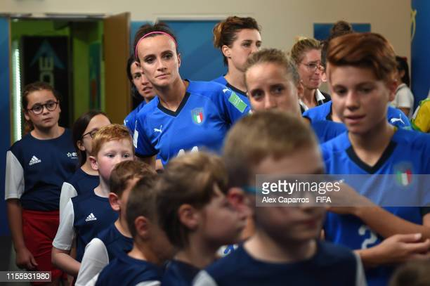 Barbaara Bonanseia of Italy waits in the tunnel prior to the 2019 FIFA Women's World Cup France group C match between Jamaica and Italy at Stade...