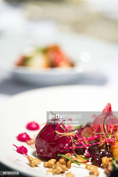 Barbabietola beets grapes walnuts anise hyssop anchovy at Masseria
