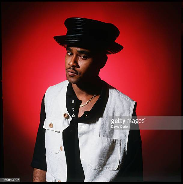 Barbadian reggae singer Rayvon poses for studio portraits in New York 1994