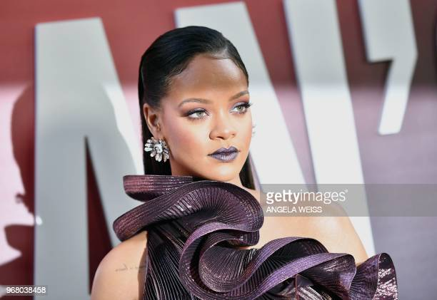 Barbadian singer/actress Rihanna arrives for the world premiere of Ocean's 8 on June 5 2018 in New York Ocean's 8 will be released nationwide on June...