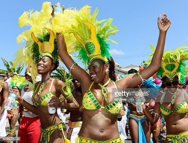barbados crop over festival - carnival stock photos and pictures
