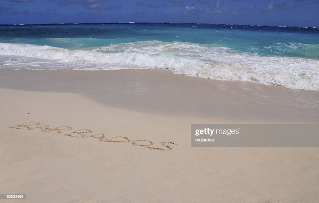 Barbados vor kurzem in Sand : Stock-Foto