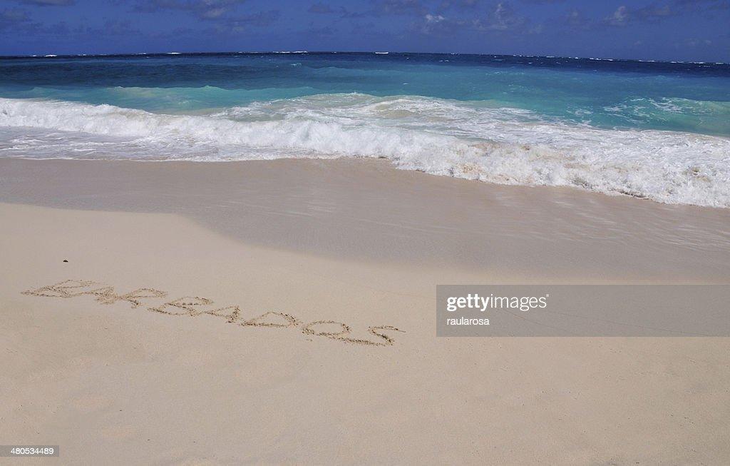 Barbados vor kurzem in Sand : Stock-Foto
