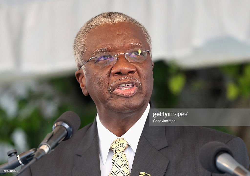 Barbados Prime Minister Freundel Stuart attends a Toast to the Nation Event on day 10 of an official visit to the Caribbean on November 30, 2016 in Bridgetown, Barbados. Prince Harry's visit to The Caribbean marks the 35th Anniversary of Independence in Antigua and Barbuda and the 50th Anniversary of Independence in Barbados and Guyana.