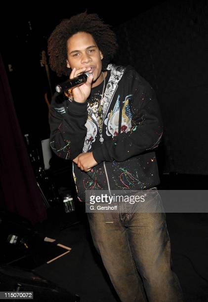 Barbados recording artist Jaicko does a showcase at Sony Music at 550 Madison Avenue on November 16 2007 in New York City