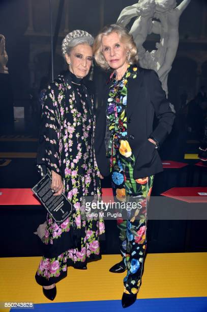 Barbara Alberti and Marina Cicogna attend the Gucci show during Milan Fashion Week Spring/Summer 2018 on September 20 2017 in Milan Italy