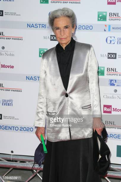 Barbara Alberti attends the 74th edition of the Nastri D'Argento 2020 on July 06 2020 in Rome Italy