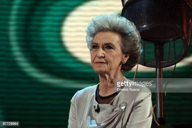 Barbara Alberti attends the 'Barbareschi Sciok' Italian TV Show at La7 Studios on March 12 2010 in Rome Italy