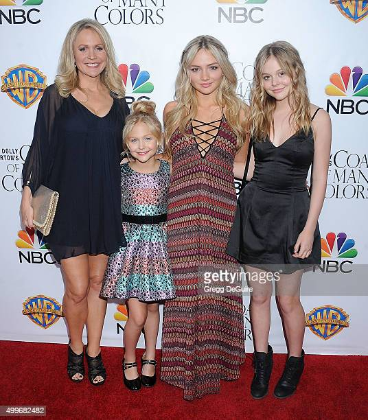 Barbara Alyn Woods Alyvia Alyn Lind Natalie Alyn Lind and Emily Alyn Lind arrive at the premiere of Warner Bros Television's 'Dolly Parton's Coat Of...