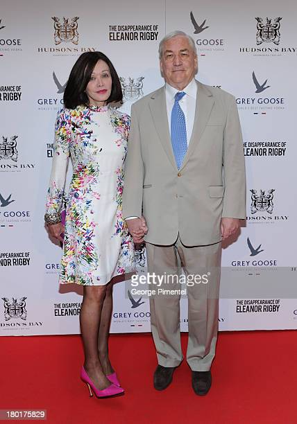 Barbara Amiel and Conrad Black arrive at The Disappearance of Eleanor Rigby dinner hosted by Hudson's Bay and Grey Goose Vodka during the 2013...