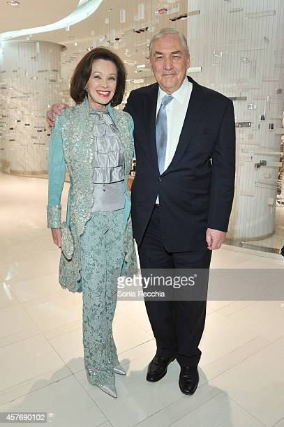 Barbara Amiel and Conrad Black attend Hudson's Bay And The Isabella Blow Foundation Present Fashion Blows at The Hudson's Bay on October 22 2014 in...