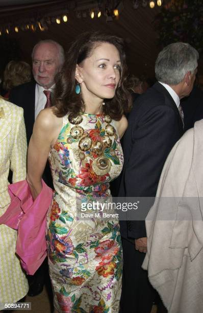 Barbara Amiel attends the Cartier dinner to celebrate the start of the Chelsea Flower Show held at the Phisic Garden on May 24 2004 in London
