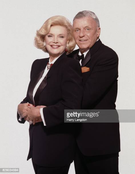 Barbara and Frank Sinatra pose for a portrait in 19990 in Los Angeles, California.