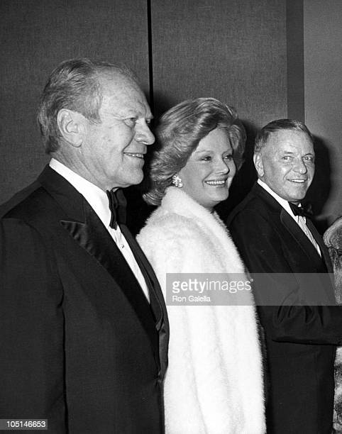 Barbara and Frank Sinatra w/ Gerald Ford during Frank and His Friends Valentine's Day Love In II at The Canyon Hotel in Palm Springs CA United States