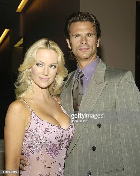 Barbara Ann Moore and Lorenzo Lamas during 2005 Vision Awards at The Beverly Hilton Hotel in Los Angeles California United States